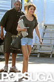 Selena Gomez Wraps Up Work in Short Shorts