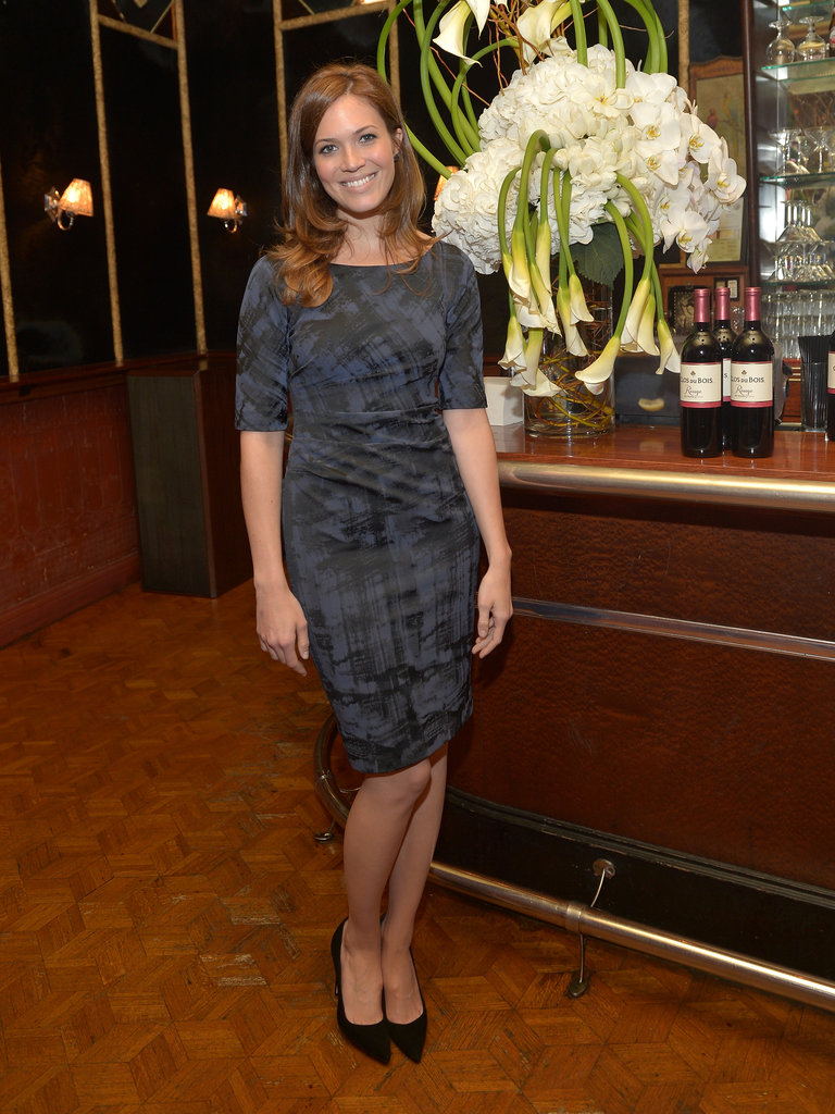 Mandy Moore stopped by to sip some wine.