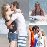 Emma Stone Showers Andrew Garfield in Birthday Kisses on the Beach