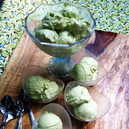 Avocado Coconut Soft Serve Ice Cream