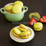 Kiwi Strawberry Macarons, Perfect for Late August