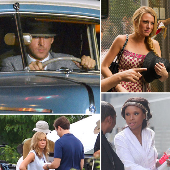 Ryan Gosling, Blake Lively, Jennifer Aniston, and More Stars on the Set