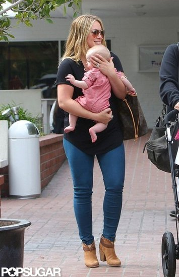 Hilary Duff Bobs and Weaves Around LA With Luca