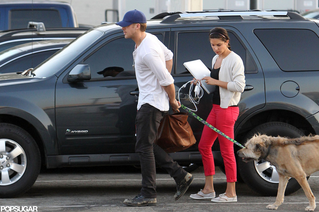 Ryan Gosling Gets Ready For Work With His Dog, George