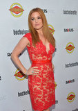 Isla Fisher struck a pose on the red carpet at the Bachelorette premiere in LA.