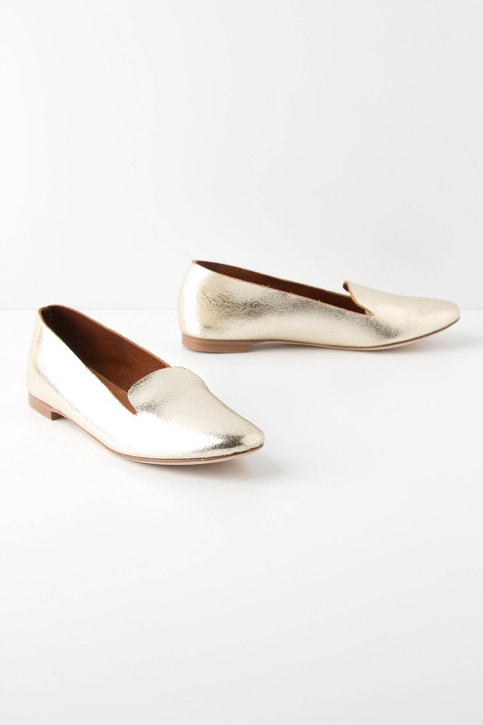 We're going for style gold with this pair, literally. Add them to a miniskirt and button-down for a preppy-glam touch.  Leifsdottir Velda Loafers ($100, originally $178)