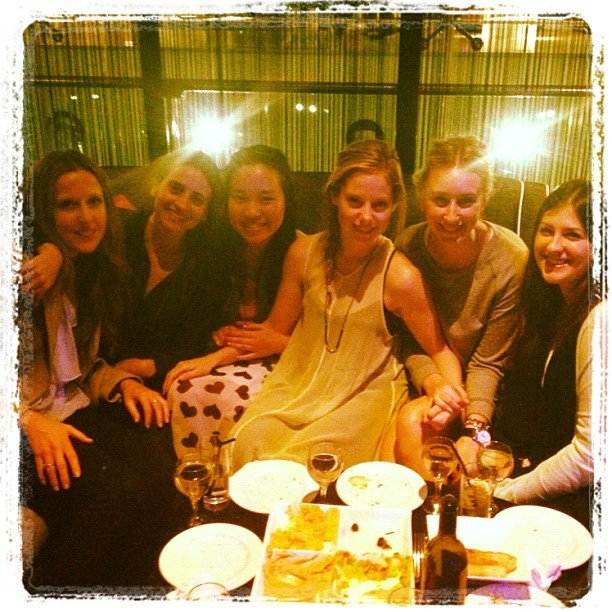 From left: Editorial assistant Tara, publisher Marisa, PopSugar editor Jess, FabSugar editor Ali, BellaSugar editor Alison and associate editor Gen hit the town for some after-work drinks.