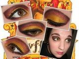 Gryffindor House/Fall Eye Look