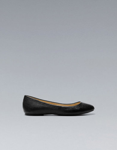 LEATHER BALLERINA - Flats - Shoes - Woman - ZARA United States
