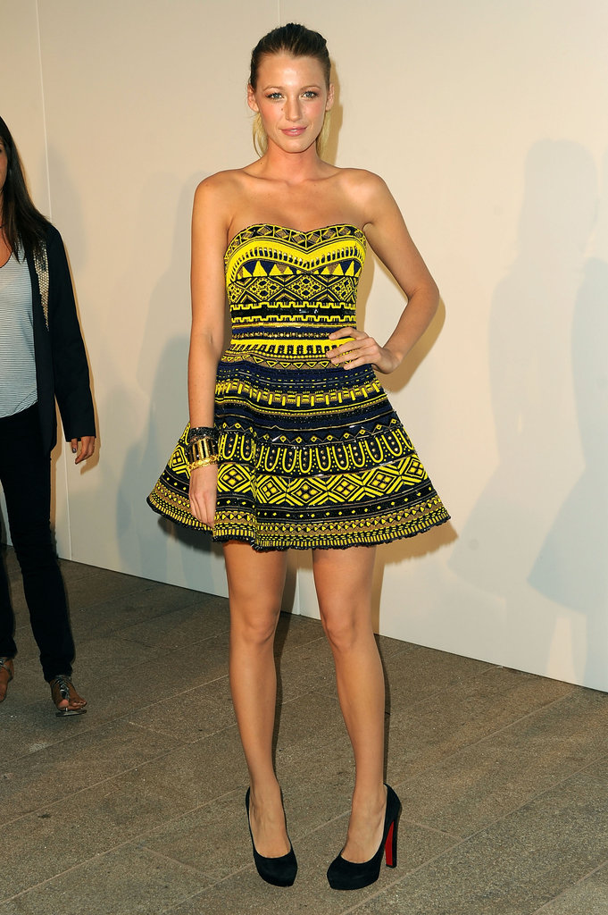 Blake showed some serious skin at NYC's Fashion's Night Out in 2010.