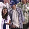 Ashton Kutcher And Mila Kunis Share Sneaky Kiss Behind Baseball Cap?
