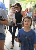 Victoria Beckham and Harper Beckham attended a kids' birthday party Sunday in LA.