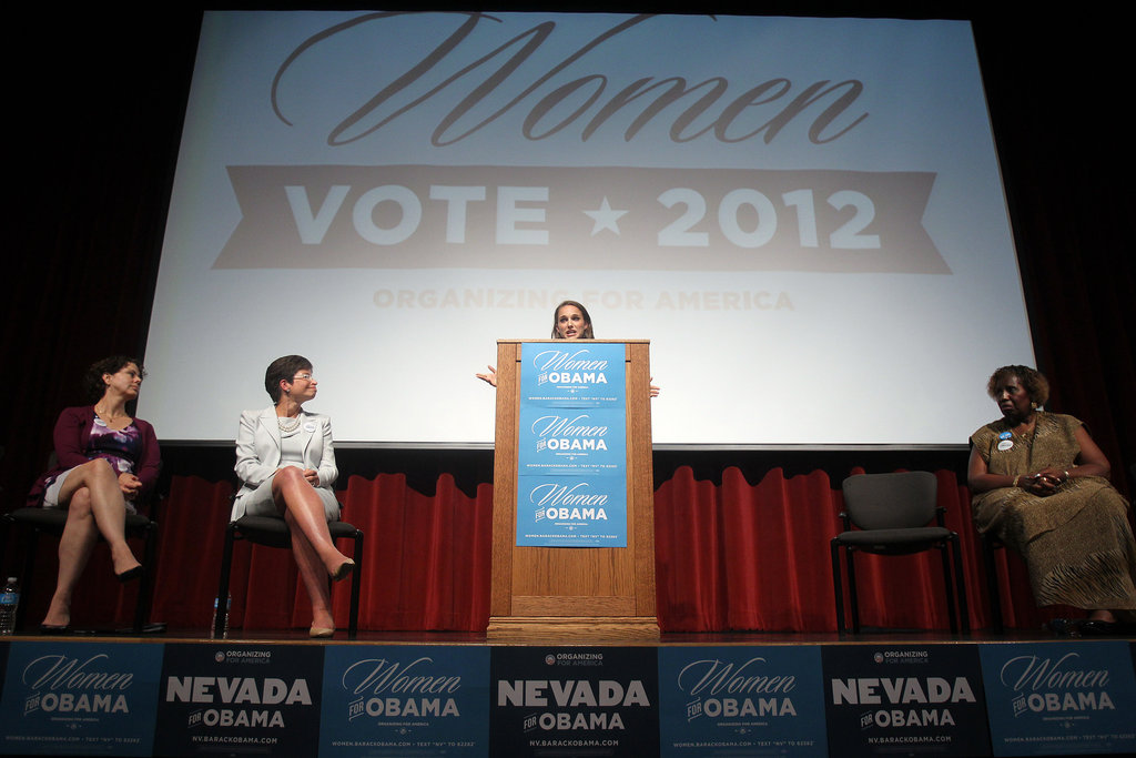 Natalie Portman Begins to Stump For the President — and Women — in Vegas