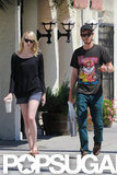 Andrew Garfield left the Samuel French bookstore with Emma Stone.