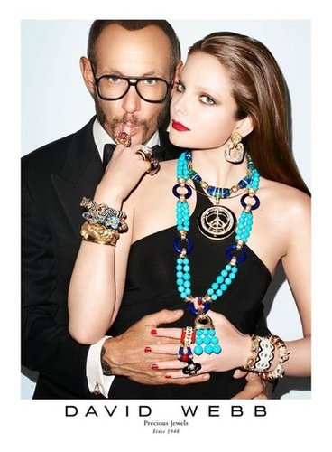 Photographer Terry Richardson gets in front of the camera for the David Webb Fall 2012 campaign.