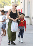 Gwen Stefani and Kingston Rossdale shopped in LA.