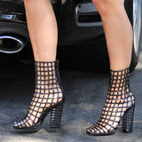 Guess the Celebrity Who Headed to Church in Her Yves Saint Laurent Cage Heels?