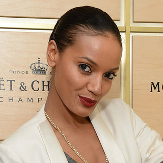 Selita Ebanks in Brick Red Lipstick