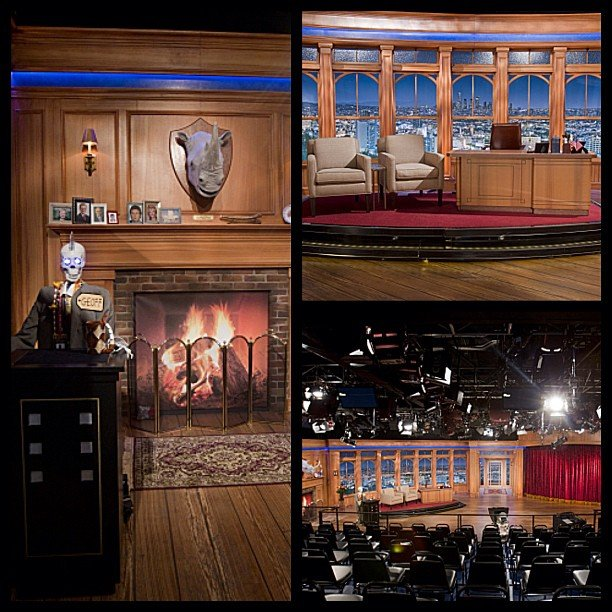 Craig Ferguson got a creepy new set for his late-night show. Source: Instagram user cbsphoto