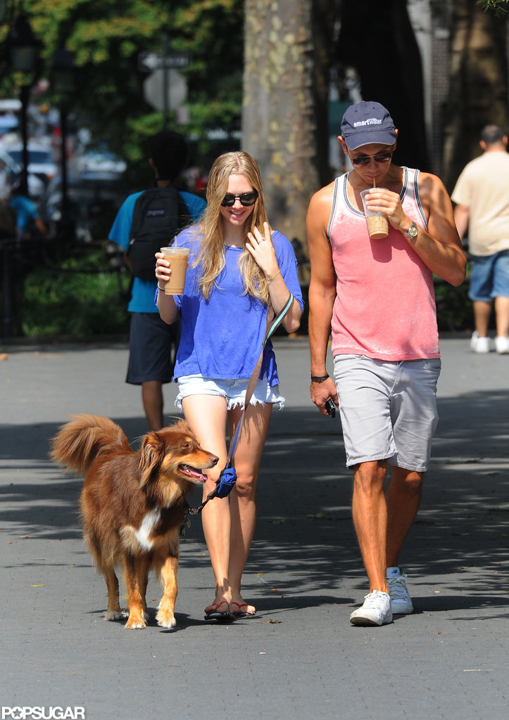 Amanda Seyfried and a friend took a walk in NYC.