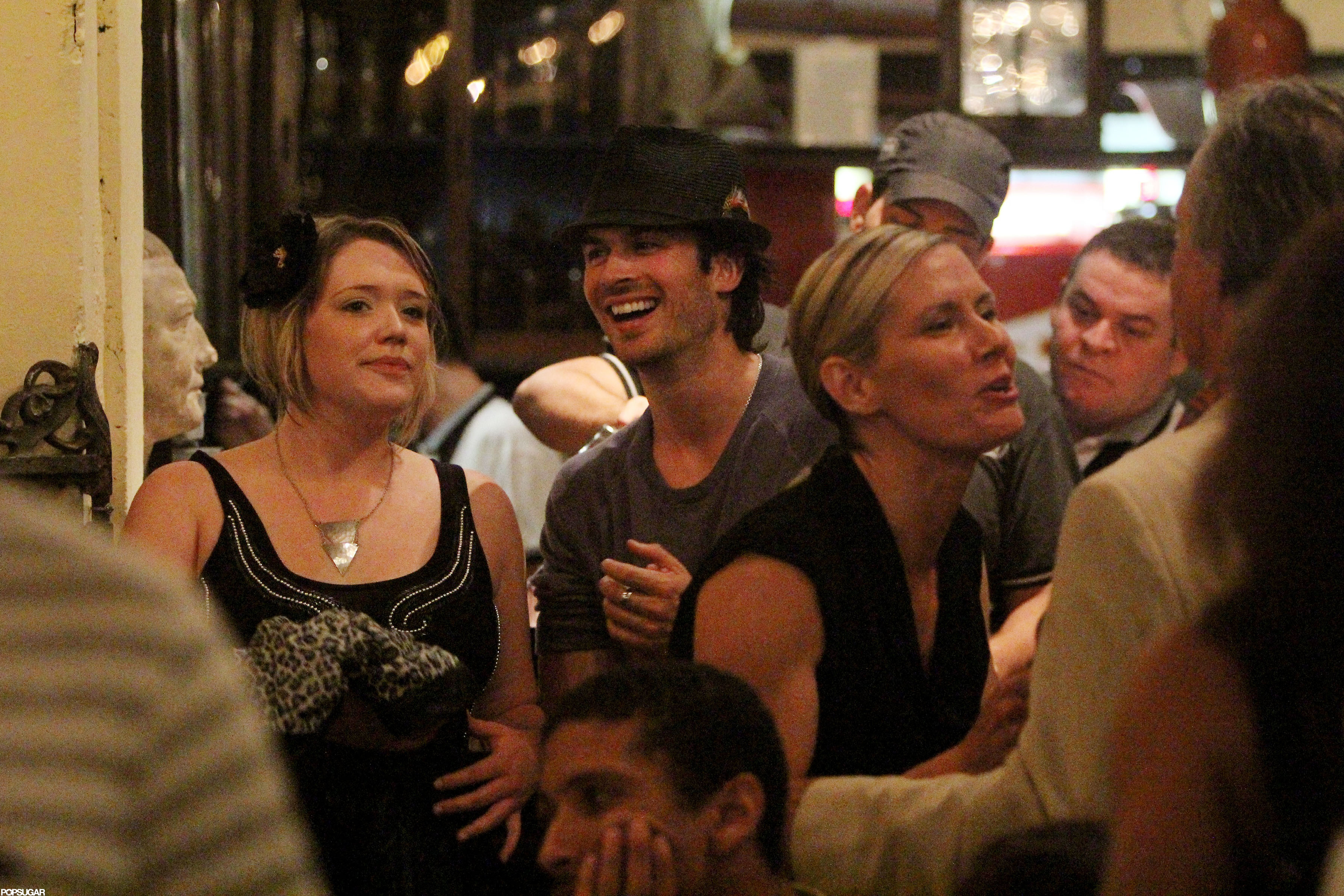 Ian Somerhalder let loose with friends at Rio de Janeiro's Scenarium bar during a June 2012 trip.