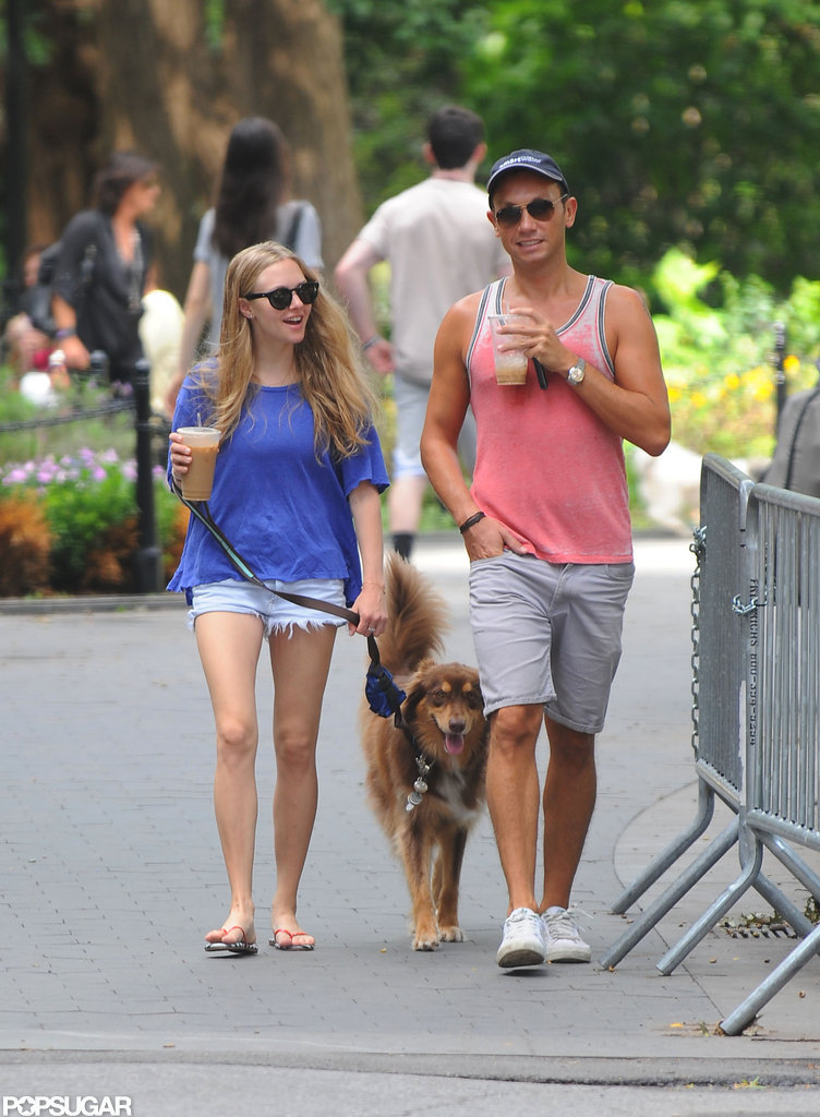 Amanda Seyfried was all smiles as she walked with a friend.