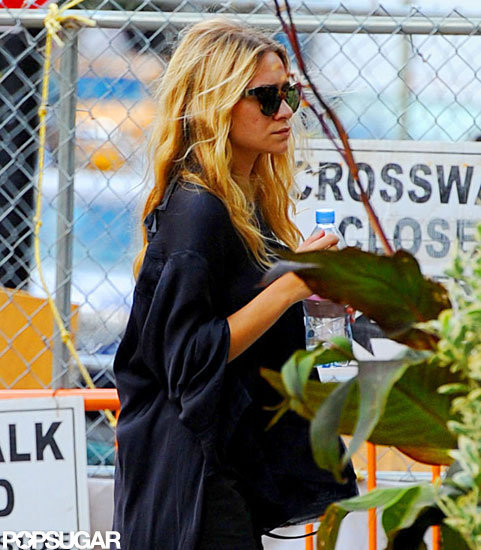 Ashley Olsen wore a loose black top while out in NYC.