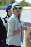 Naomi Watts wore sunglasses and a fedora arriving at the Venice Film Festival.