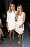 Both dressed in white, Malin Akerman and Julianne Hough posed together at Rag & Bone's September 2011 show.