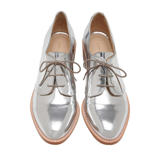 With their metallic shine, we'll never be underdressed running around Lincoln Center in these (even if they are flats).  Loeffler Randall Joanna Welted Oxford ($350)