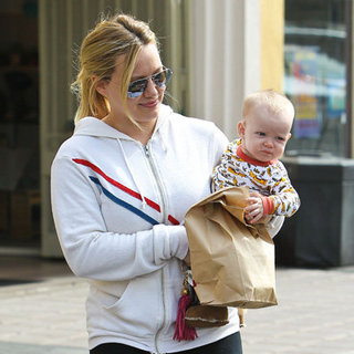 Hilary Duff Pictures With Cute Baby Luca Comrie at Farmers Market in LA