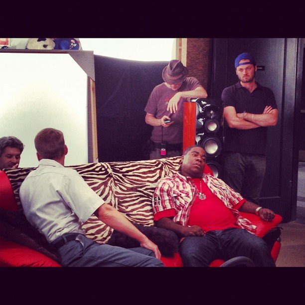 Tracy Morgan spaced out on the set of 30 Rock. Source: Instagram user realtracymorgan