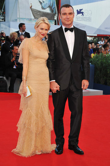 Naomi Watts and Liev Schreiber posed together at the premiere of The Reluctant Fundamentalist in Italy.