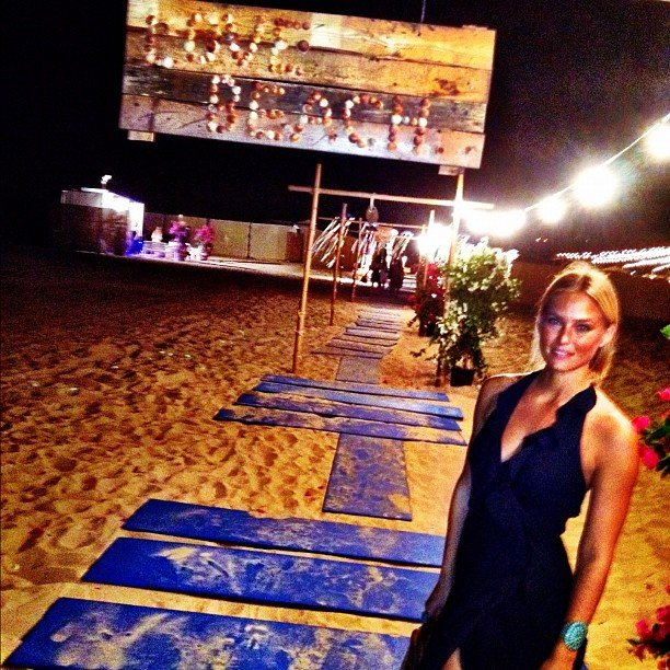 Bar Refaeli shared a photo from Love Beach.