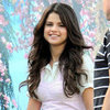 Selena Gomez in a Pink Dress on Set | Pictures