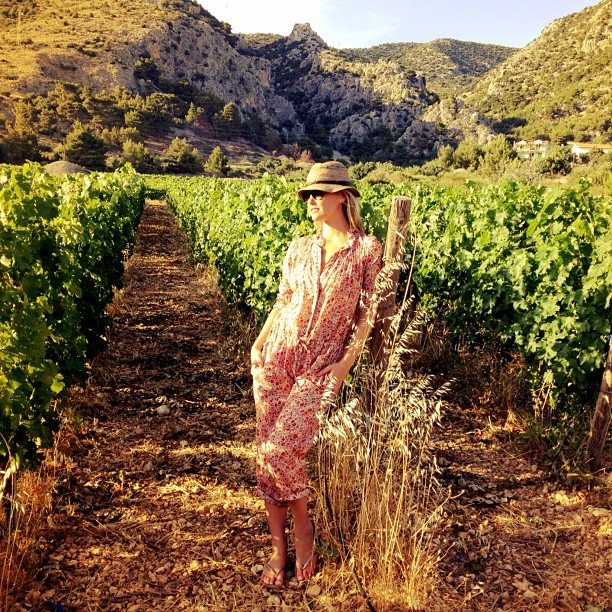 Bar Refaeli checked out a winery in June.  Source: Instagram user barrefaeli