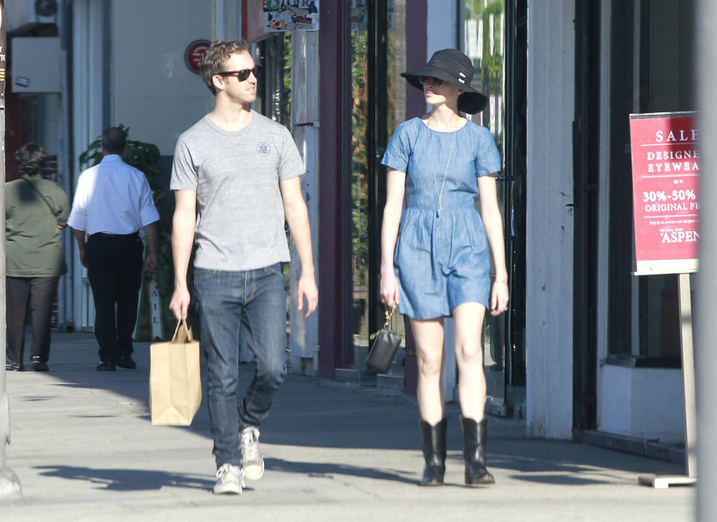 Anne Hathaway and Adam Shulman went shopping together in LA.