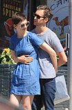 Anne Hathaway held onto Adam Shulman in LA.