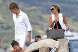 Kate Moss and Jefferson Hack stepped onto the dock in Saint-Tropez.