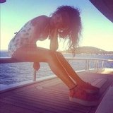 Rihanna took a self portrait from a yacht in July. Source: Instagram user badgalriri