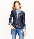 We're totally on board with ditching the more predictable suit jackets and swapping them for a knit peplum jacket that flatters our feminine shape.  J.Crew Bouclé Peplum Jacket ($148)