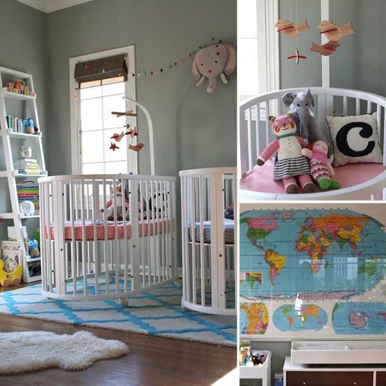 A Twin-tastic Nursery For a Lucky Boy and Girl