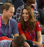 Kate Middleton shared a joke with Prince William.