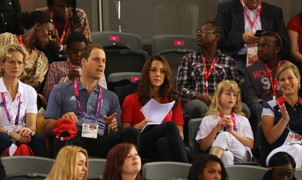 Kate Middleton checked out a Paralympic pamphlet.