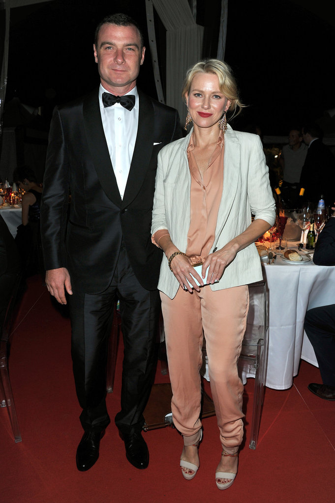 Naomi Watts paired a relaxed linen blazer with a silky peach jumpsuit and white sandals for the opening ceremony dinner.