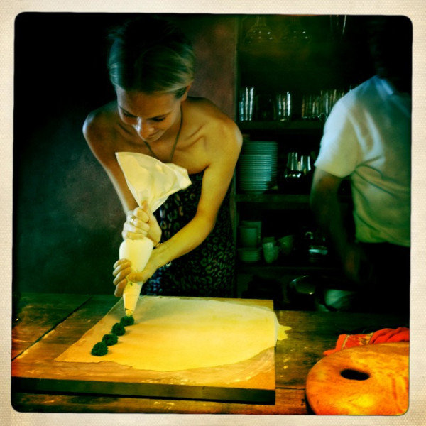 Poppy Delevingne made pasta. Source: Twitter user DelevingnePoppy
