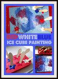 Patriotic Ice Cube Painting