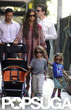 Camila Alves took a walk with Levi and Vida who both wore sunglasses to match their mom.