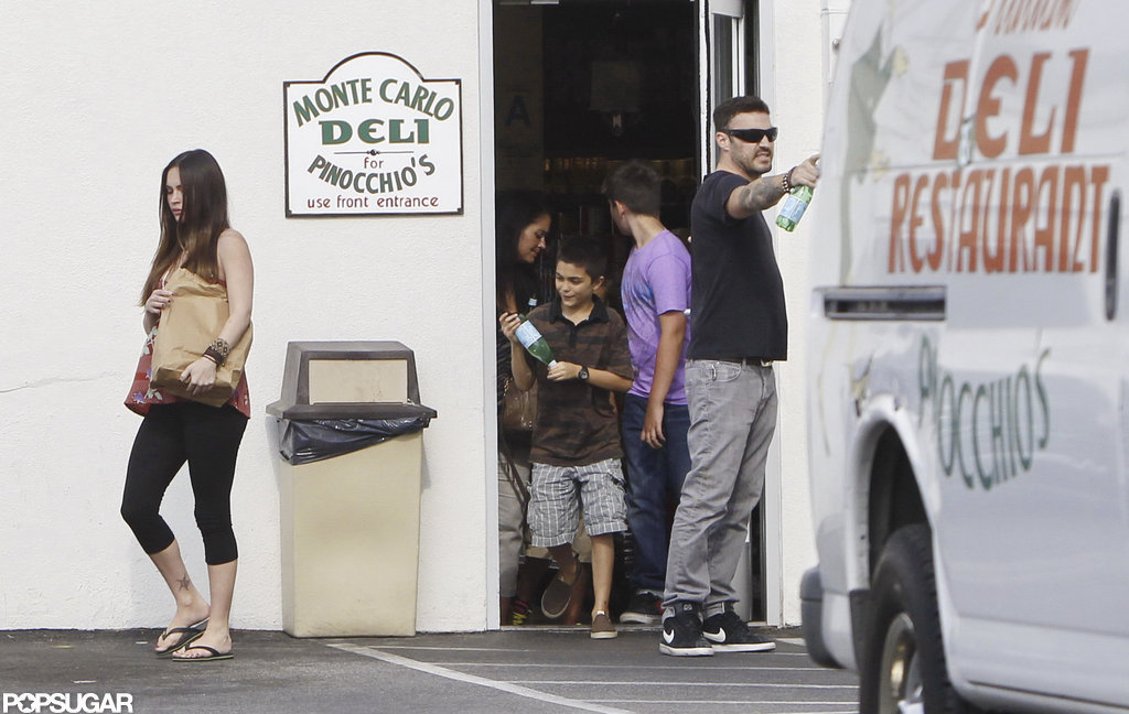 Megan Fox stopped at a deli in LA with Brian Austin Green.
