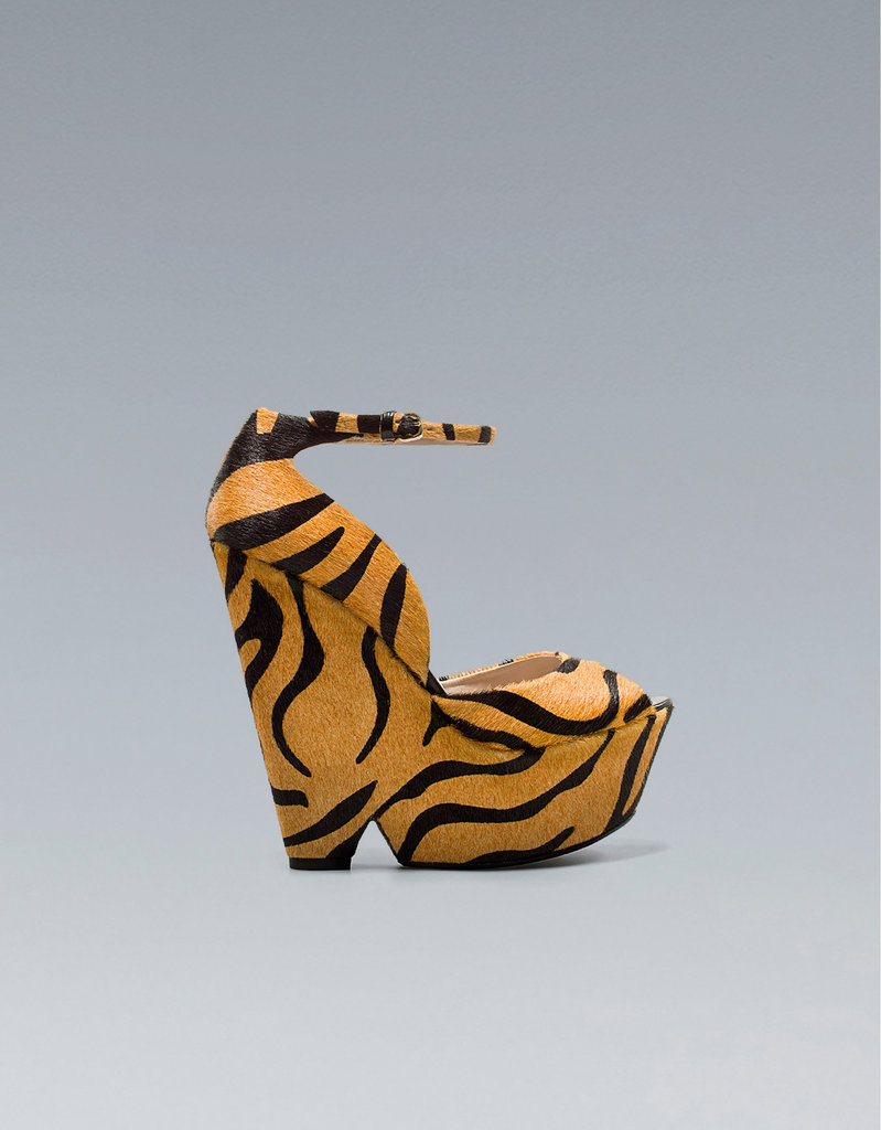 Get a leg up in these fierce tiger-print wedges. Zara Tiger Wedge ($159)